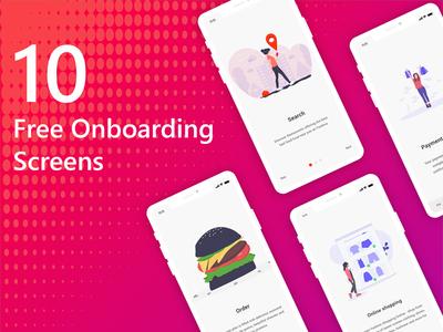 10 Free Onboarding Screens Ui