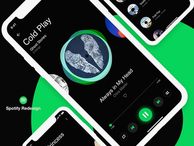 Free Spotify Redesign Concept