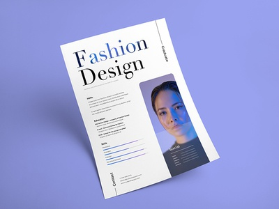 Free Fashion Resume Template