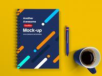 Free Notebook Mockup Psd