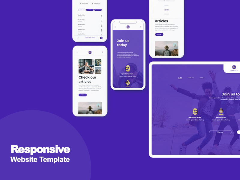 Free Responsive Website Template (Adobe Xd) by Andy W on