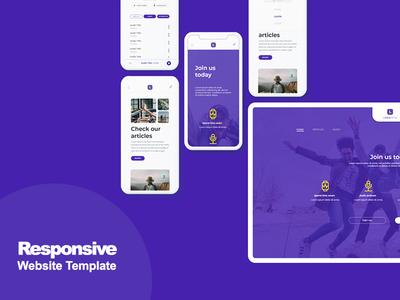 Free Responsive Website Template  (Adobe Xd)