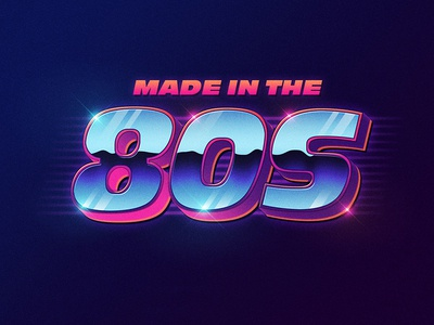 Free 80s Text Style