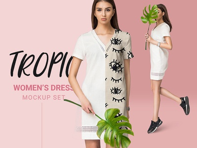 Free Women Dress Mockup Psd
