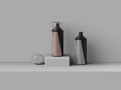 Free Hairlover Bottle Mockup Psd