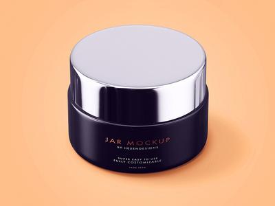 Free Cosmetic Cream Jar Mockup