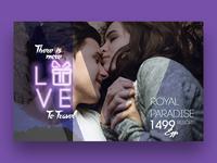 Free Valentines Day Website Design Template