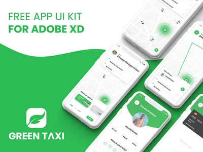Taxi App Ui Kit (Freebies)