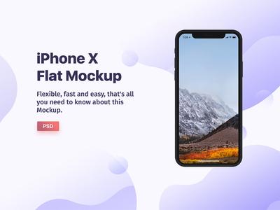Free Flat Iphone X Mockup