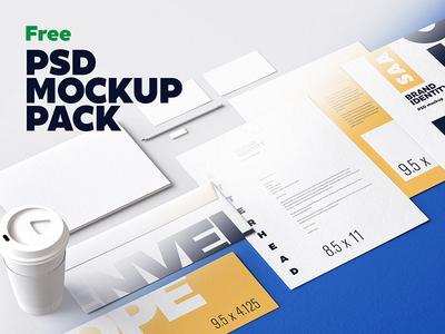 Free Identity Design Mockups Set