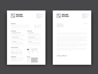 Free Simple CV/Resume Template with Cover Letter