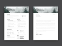 Free Modern CV/Resume Template with Cover Letter