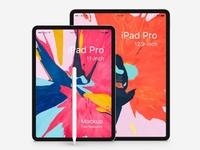 Free 10.5 and 12.9 inch iPad Pro Mockup