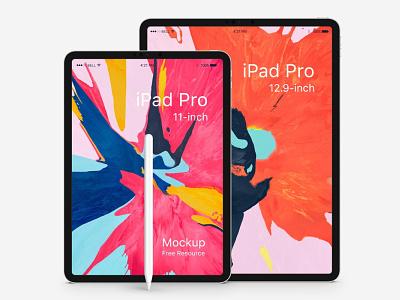 Free 10.5 and 12.9 inch iPad Pro Mockup psd mockup mockup design free psd free mockup mockup interface design freebie freebies