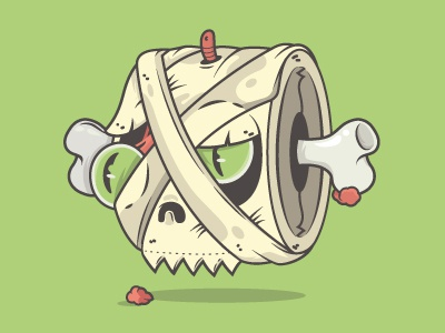 Toilet Mummy dralloween illustration fear scary mummy dead vector sticker stickermule halloween