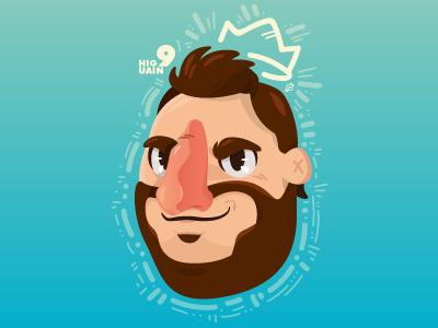 Gonzalo Higuain vector illustration character calcio naples football higuain soccer