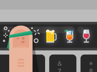 Touch Bar icons vectorart macbook vector illustration apple
