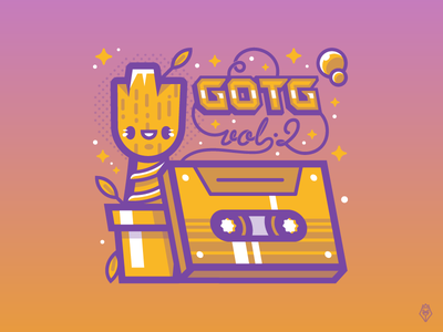 I am Groot guardiansofthegalaxy 80s characters illustration vector marvel