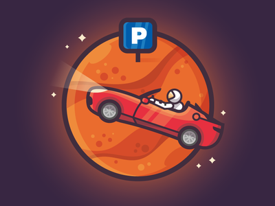 Tesla Starman creative design vectorart vector illustration humor falconheavy space tesla spacex