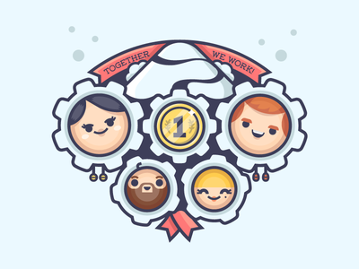 Olympic Teamwork olympics design creative teepublic dribbble character vector team illustration