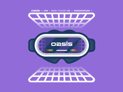 O.A.S.I.S. illustrator movie nerd vr vector illustration readyplayerone