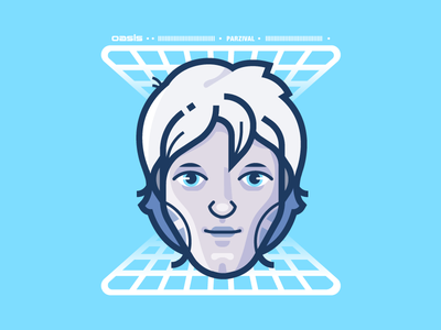 Parzival illustrator movie nerd vr vector illustration readyplayerone