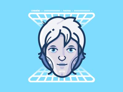Parzival illustrator movie nerd vr vector illustration readyplayerone