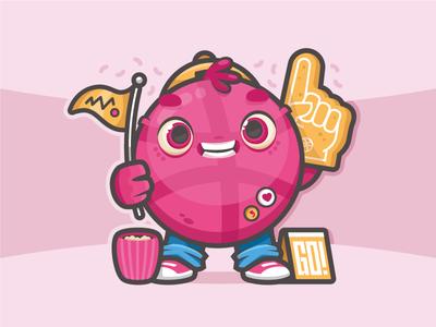 Suppporter graphic design sport basket illustration vector character sticker contest stickermule dribbble