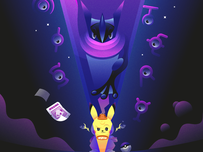 Detective Pikachu character vectorart videogame characterdesign vector illustrator illustration pokemon pikachu detective pikachu