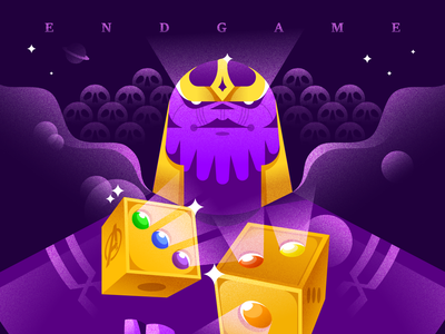 Endgame superheroes marvel character vector illustration thanos endgame avengers