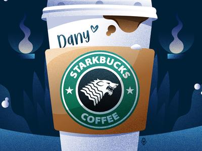 Starkbucks logo vector tvshow targaryen stark starbucks gameofthrones