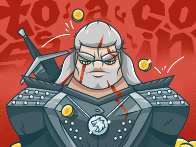 Toss a Coin to your Witcher 🗡💰 procreate geralt tv series character design illustration