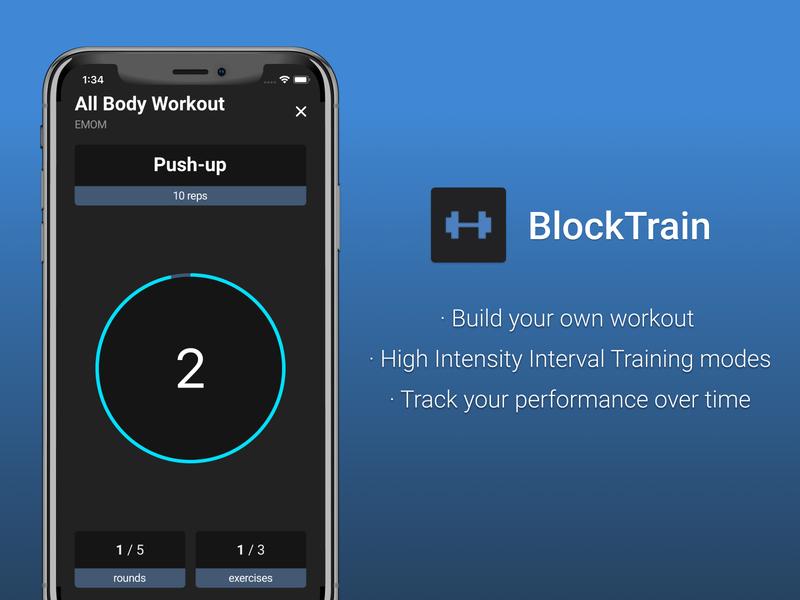 BlockTrain fitness tracker fitness app fitness