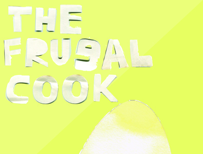 The Frugal Cook book cover design