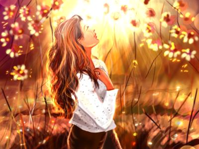 Sunrise digital art procreate vector sunrise illustration