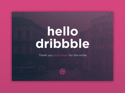 Hello dribbble! first shot hello dribbble thanks debut dribbble hello