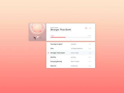 Desktop Music Player - Playlist View