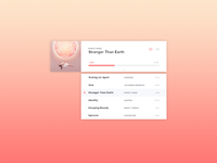 Desktop Music Player - Playlist View