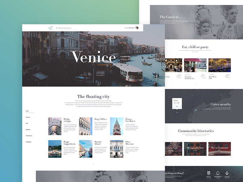 Vagaree - City View web clean ui concept web design website travel