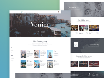 Vagaree - City View web clean ui concept web design website travel