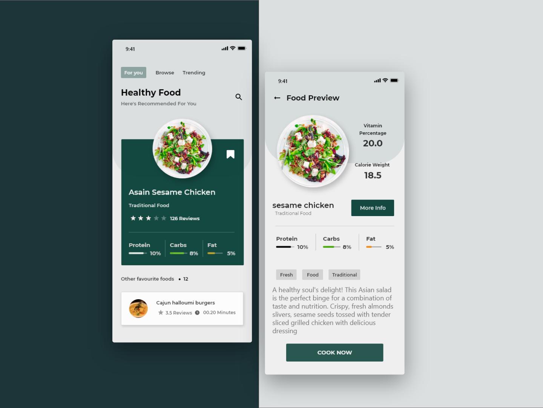 Food on boarding uxui web illustration design ui adobe xd