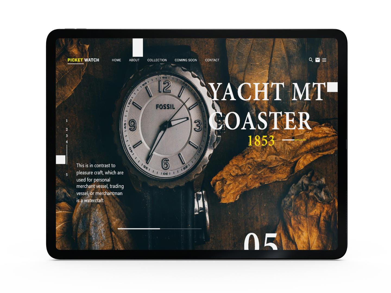 Watch Landing Page ux illustration uxui design adobe xd web