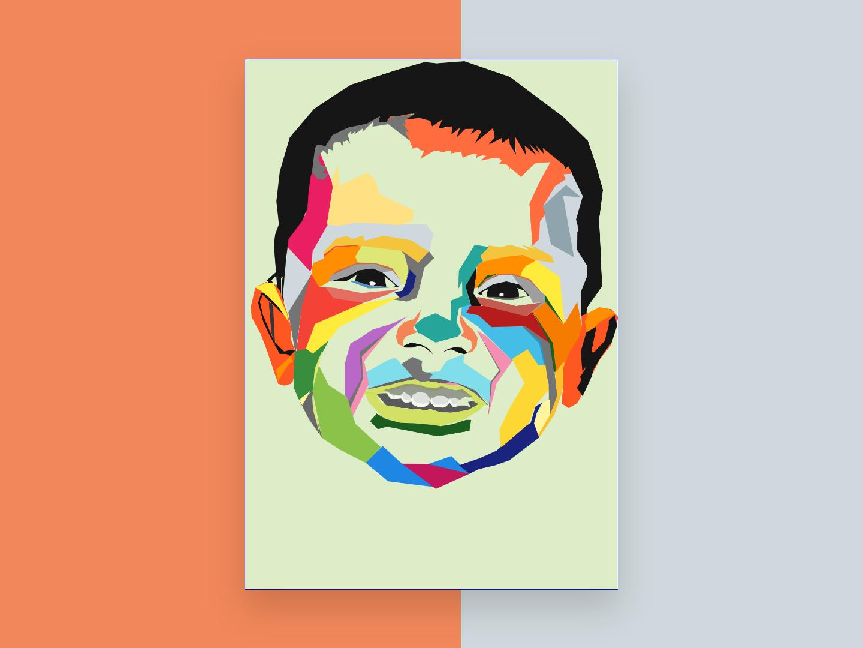 Pop Art babypink child pop art vector adobe illustrator illustration