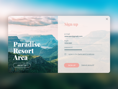 Sign Up#dailyui