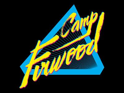 Firwood Shredder T-Shirt 80s black cyan magenta yellow cmyk typography type t-shit apparel custom type script cursive