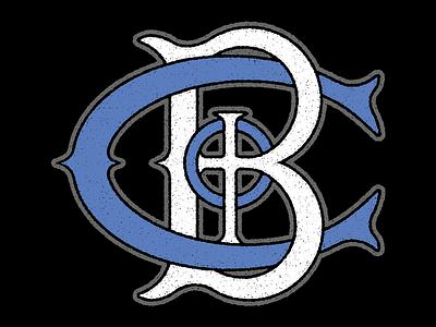 Church On The Block Logo white blue black gray logo vector branding crest vintage retro cross distress