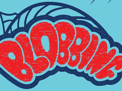 Firwood Blobbing T-Shirt blue red movie poster custom vector design apparel water distress horror