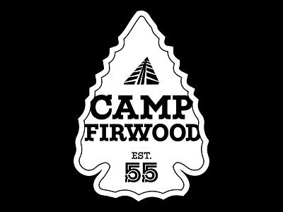 Firwood Arrowhead maritime champion vector illustration apparel black white logo arrowhead