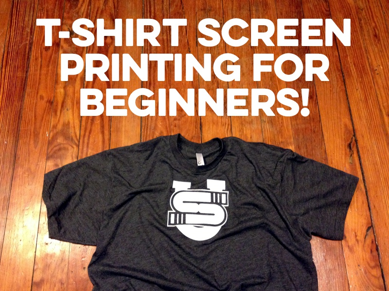 T-Shirt Screen Printing For Beginners! apparel t-shirt screen printing class design illustration vector tshirt
