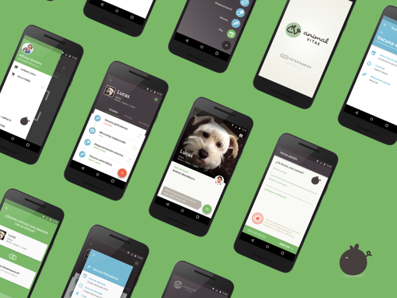 Animal Vitae sketch mobile material design android